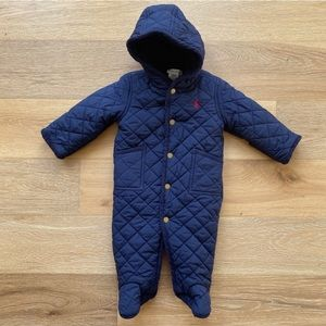 Ralph Lauren | Navy Quilted Snow Suit Outfit
